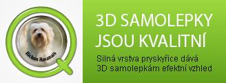 Silná vrstva pryskyřice dává 3D samolepkám efektní a stálobarevný vzhled